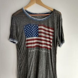 Zoe + Liv American Flag Burnout Graphic Tee